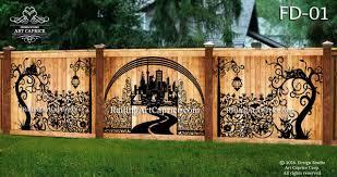 Fence Decorations Design Studio Art Caprice
