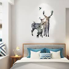 China Hm92009 Family Of Milu Deer Wall Sticker China Window Sticker And Home Decoration Price