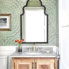large scale fl bathroom wallpaper