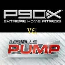 p90x vs les mills pump home fitness