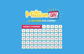 MILLION DAY – Estrazione lunedì 8 aprile 2019: i numeri vincenti ...