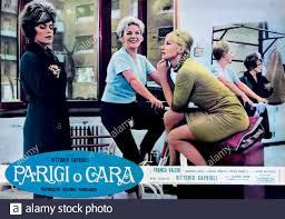 1962 : The italian poster advertising for the movie PARIGI O CARA by  VITTORIO CAPRIOLI , with FRANCA VALERI and GRETA GONDA ( center in this  photo Stock Photo - Alamy