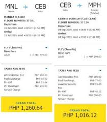 airfare promos for july to october 2019