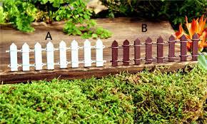 Miniature Wood Picket Fence