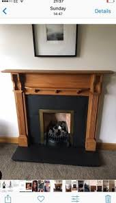 fireplace painted in chalk paint