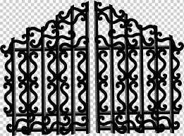 Gate Drawing Gate Fence Monochrome Recording Studio Png Klipartz