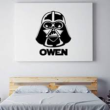 Amazon Com Darth Vader Wall Decal Vinyl Sticker Personalized Star Wars Fan Decoration For Boy S Room Playroom Nursery Bedroom Office Or Birthday Party Handmade