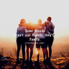 quotes about friendship friends are family foto quote