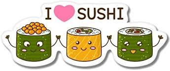 Amazon Com Ak Wall Art I Love Sushi Cute Vinyl Sticker Car Window Bumper Laptop Select Size Home Kitchen