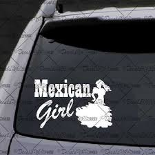 Mexican Girl Decal Decal Car Window Decal Sticker White Car Window Decals Truck Stickers Window Decals