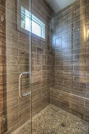coastal spa shower faux wood plank