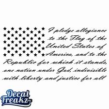 Pledge Of Allegiance Flag Decal Diesel Freak