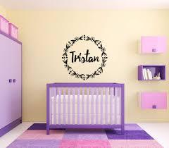 Amazon Com Vinyl Sticker Tristan Boy Floral Name Font Type Kids Room Nursery Mural Decal Wall Art Decor Eh3848 Handmade