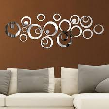 Creative Circle Ring Acrylic Crystal Mirror Wall Stickers Diy 3d Decal Gadgetsrus Org