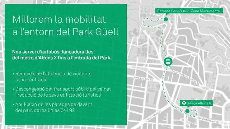 """Resultado de imagen de millorem la mobilitat entorn el park guell"""""""
