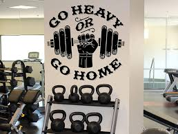Go Heavy Or Stay Home Wall Decal Fitness Gym Sport Vinyl Sticker Home Wall Art Decor Ideas Interior Removable Design 21 Fmf Amazon Com