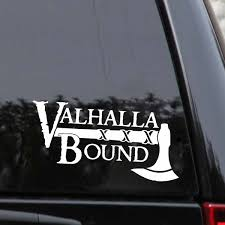 Valhalla Bound Viking Decal Soldier Car Sticker Black Silver Covering The Body Vinyl Wish