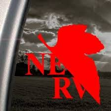 Amazon Com Evangelion Red Decal Nerv Anime Car Truck Window Red Sticker Automotive