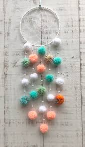 Dream Catcher Pom Pom Dreamcatcher Baby Shower Gift Baby Etsy