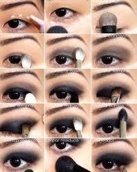 black smokey eye makeup tutorial by