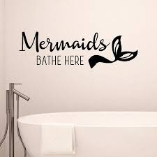 Mermaids Bathe Here Wall Quotes Decal Wallquotes Com