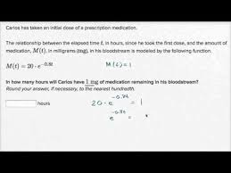 exponential model word problem