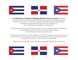 Hispanic Heritage Month Fun Facts