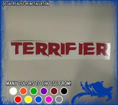 9 Terrifier Movie Logo Vinyl Sticker Art The Clown Horror Car Window Decal Cute Ebay