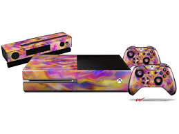 Tie Dye Pastel Holiday Bundle Decal Style Skin Set Fits Xbox One Console Kinect And 2 Controllers Xbox System Sold Separately Newegg Com