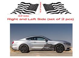 Product American Usa Flag Ford Mustang Decal Vinyl Side Door Graphics