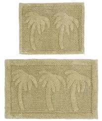 piece bath rug set palm tree sage