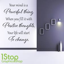 Positive Thoughts Wall Sticker Bedroom Lounge Wall Art Decal X408 Ebay