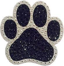 Amazon Com Crystal Heiress Rhinestone Sticker Paw Print 4 By 3 25 Inch Silver Arts Crafts Sewing
