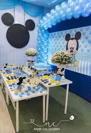 Baby Shower Decoracion De Mickey Bebe Cumpleanos Mickey Bebe