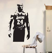 Lakers Kobe Bryant Wall Art Sticker Basketball Poster Graphic Decal Decor School Dorm Living Room Bedroom Home Mural Stencil Wall Art Stickers Stickers Nbaliving Room Aliexpress