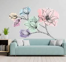 Magnolia For Wall Flower Wall Sticker Tenstickers
