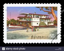 "AUSTRALIA - CIRCA 2003: A Stamp printed in AUSTRALIA shows the ""Marion"",  Murray River shipping, 150th anniversary, series, circa 2003 Stock Photo -  Alamy"
