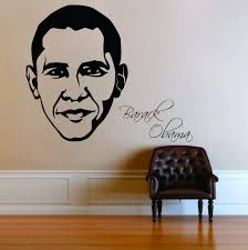 Amazon Com Zigzacs Barack Obama Wall Sticker Home Decor Removable Poster Decal Style Home Kitchen