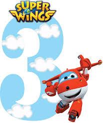 Numeros De Super Wings Para Imprimir Gratis Cumpleanos De Aviones