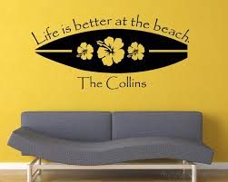 Surfboard Decal Life Is Better At The Beach Decal Surfboard Family Name Decal