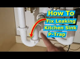 kitchen sink p trap leaking at