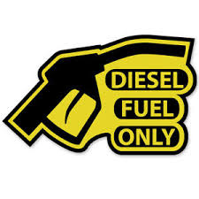Diesel Fuel Only Vinyl Sticker Decal Reminder Gas Cap Cover Marker Yellow Black Ebay
