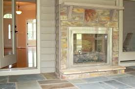 two way fireplace screened in porch