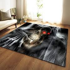 Nordic Halloween 3d Skull Home Area Rugs Kids Room Play Mat Flannel Game Carpets For Living Room Party Decorative Carpet Tile Designs High End Carpet Brands From Asite 33 84 Dhgate Com