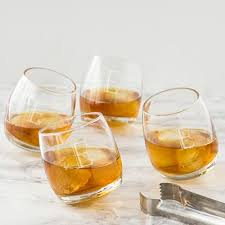 tipsy personalized whiskey glasses