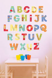 A Is For Alphabet Wall Decals Nursery Wall Stickers Alphabet Wall Nursery Alphabet Wall Decals