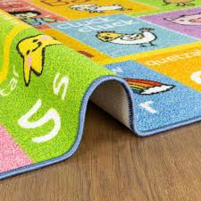 Kc Cubs Multi Color Kids Children Bedroom Abc Alphabet With Old Mcdonald S Animals Educational Learning 8 Ft X 10 Ft Area Rug Kcp010030 8x10 The Home Depot