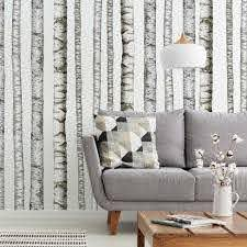 Realistic Birch Trees Peel And Stick Giant Wall Decal Roommates Target