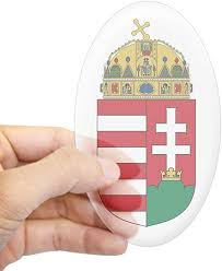 Amazon Com Cafepress Hungary Coat Of Arms Oval Sticker Oval Bumper Sticker Euro Oval Car Decal Home Kitchen