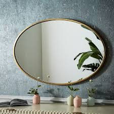metal frame 30 oval mirror